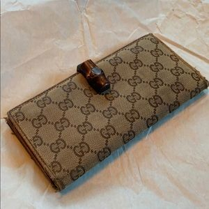 Gucci Canvas Bamboo Wallet used